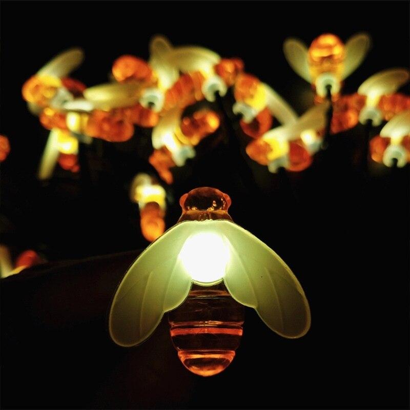 1 pacote solar abelha estilo luzes da 04