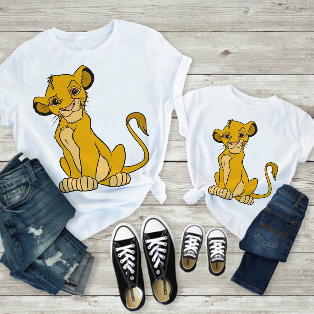 Family Look T-shirt Baby Boy Clothes Tshirt Father And Son Clothes T Shirt Funny Beautiful Lion King