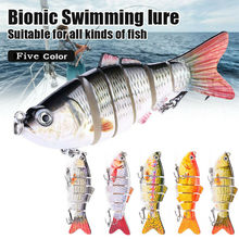 Hot Sale 5 Pack Fishing -Lure Fishing Wobblers Lure Robotic Swimming -Freshwater Sinking Minnow Fishhook Trout Bass Hard Bait(China)