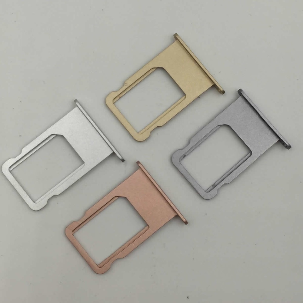 Micro Nano <font><b>SIM</b></font> Card Holder Tray <font><b>Slot</b></font> Replacement Part <font><b>SIM</b></font> Card Holder Adapter Socket for iphone 6 6s 6 plus image