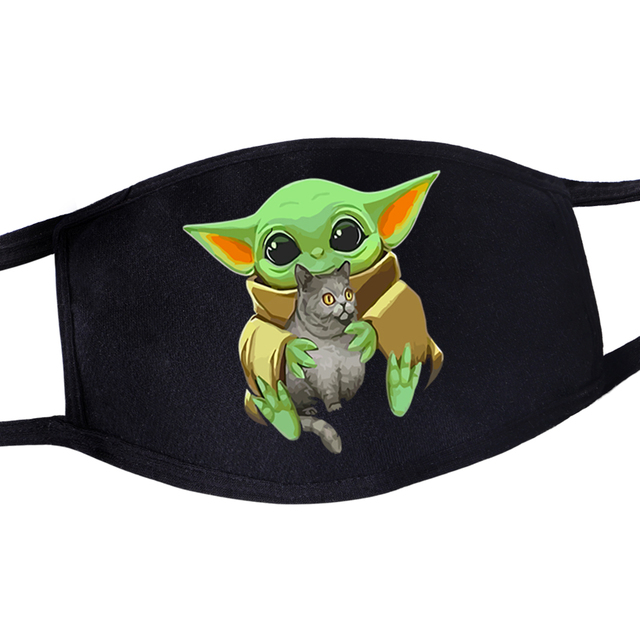 2020 Hot Mandalorian Anti Dust Masker Adult Womens Mens Kids Baby Yoda Face Mask Masque Star Wars Kawaii Reusable Mouth Masks 2