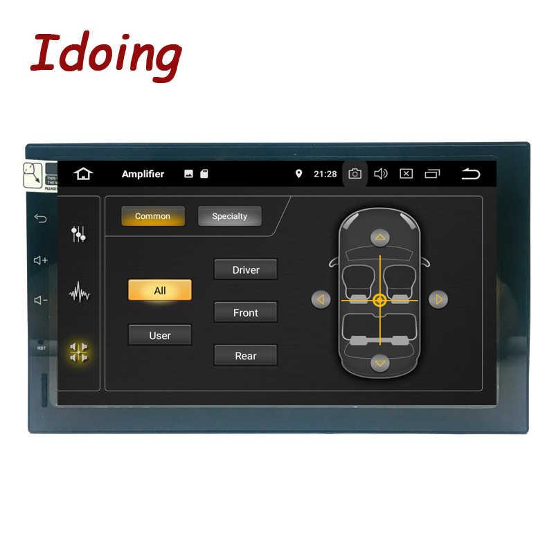 """Idoing 2Din Android 9.0 7 """"PX5 4G + 32G Octa Core Gps per Auto Universale Dsp Radio Multimedia lettore Ips Dello Schermo di Navigazione di Video"""