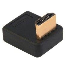 90 derece HDMI bir erkek dişi Port adaptörü dik açı uzatma dönüştürücü desteği yüksek hızlı İletim hızı