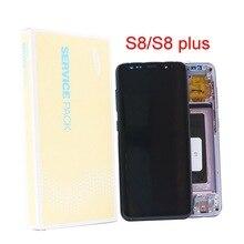 Originele Super Amoled S8 Lcd Voor Samsung Galaxy S8 G950 G950F S8Plus G955 G955F Met Burn Rode Mark Lcd Touch screen Digitizer