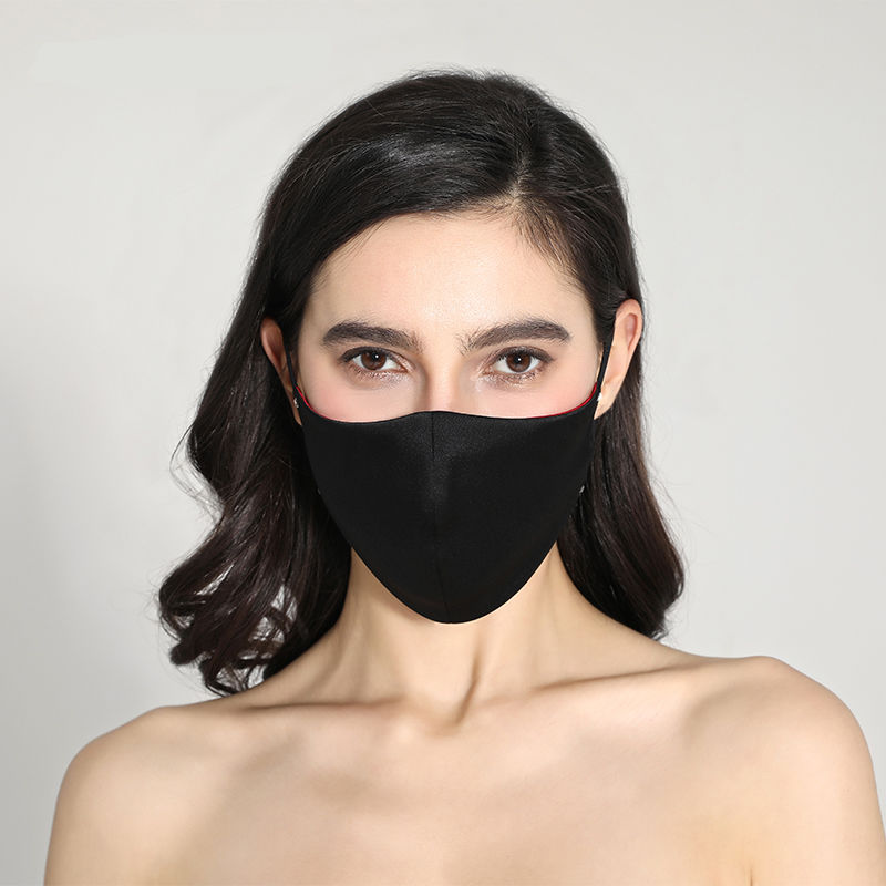 1Pcs Mouth Face Mask Black Mouth Mask Anti Haze Dust Washable Reusable Dustproof Mouth-muffle Spring Summer Autumn Winter Mask