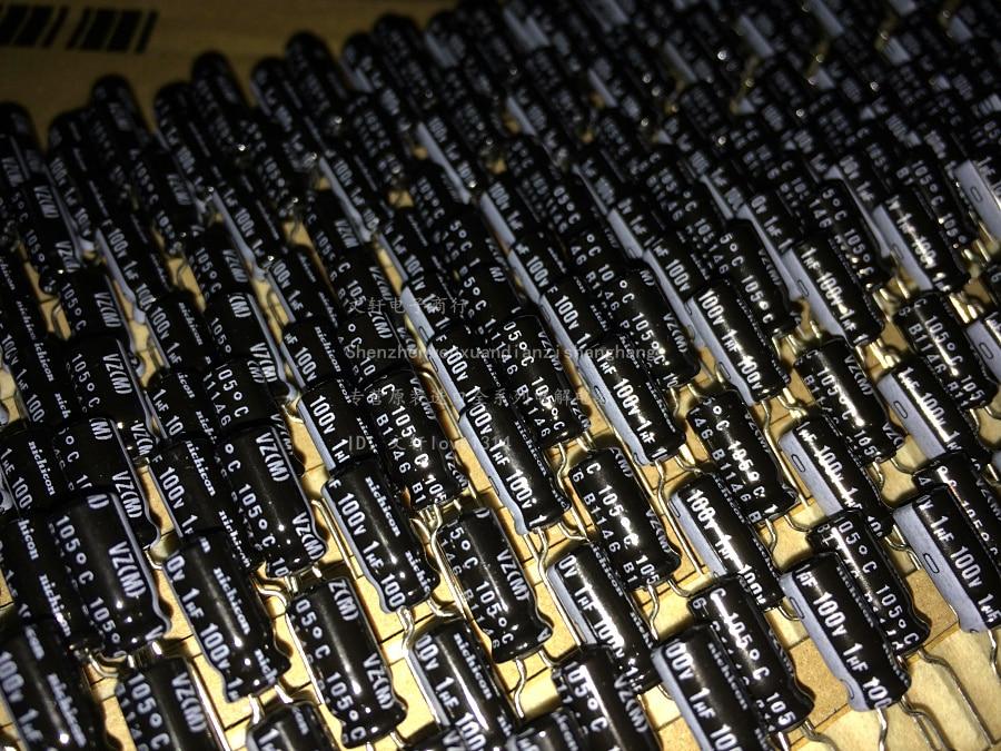 1µF 100V Electrolytic Capacitors 25Pcs