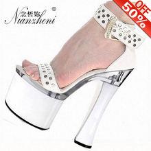 Босоножки женские на высоком каблуке 18 см пикантные модные