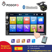 Podofo radio de coche 2 Din 7 reproductor de HD MP5 Digital de pantalla táctil Bluetooth Multimedia FM AUX USB SD función