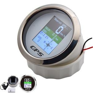 Image 3 - Wasserdicht TFT Bildschirm Digitale GPS Tacho Gauge 85MM MPH Knoten Km/h eingestellt + GPS Antenne Kilometerzähler für boot Russland Schiff