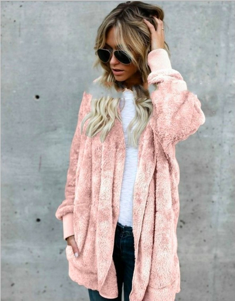 KAYOULAI S-5XL Big Size Winter Coat Women Fur Cardigan Jacket Long Sides Both Side Wearing Faur Fur Coat Teddy Coat