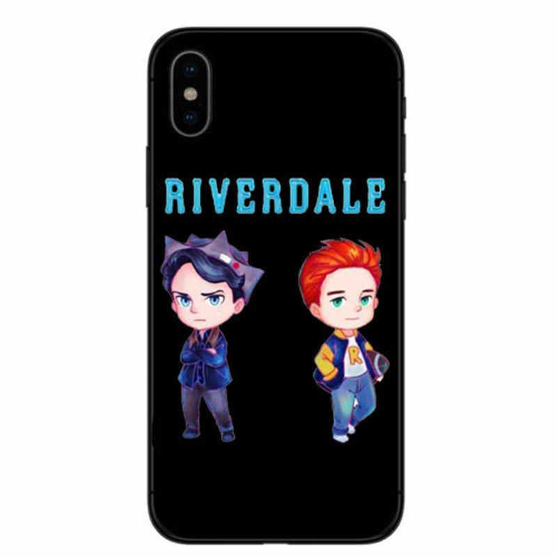 TV Americana Riverdale Jughead Jones Woz Aqui Rigido South Side Serpents Soft silicone Phone Case Para iphone 4 5 6 7 8 X Plus X