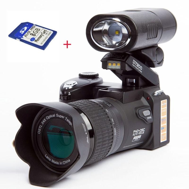 POLO D7200 Digital Camera 33MP Auto Focus Professional DSLR Camera Telephoto Lens...