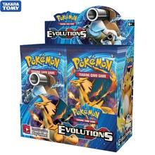 324 카드 포켓몬 TCG: XY Evolutions 36 봉지 봉인 된 부스터 박스 컬렉션 트레이딩 카드 게임 완구