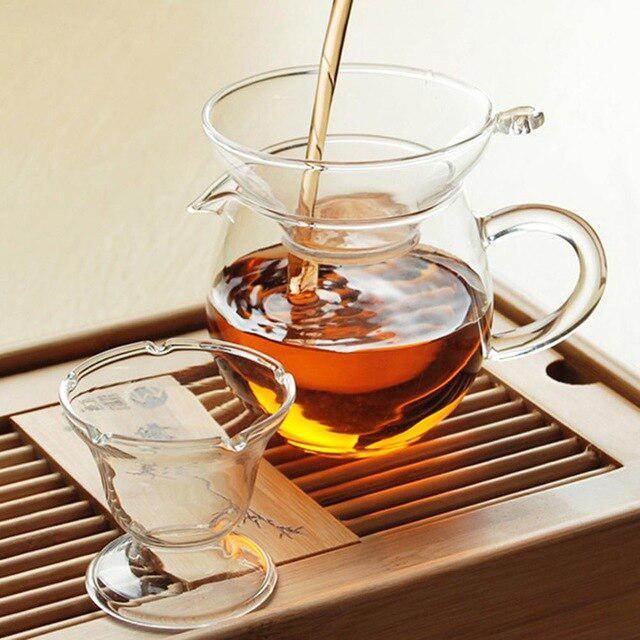 TPFOCUS Tea Infuser Glass Tea Strainers with Handle Glass Colander Sphere Mesh Tea Strainer Coffee Herb Kung Fu Tea Accessories