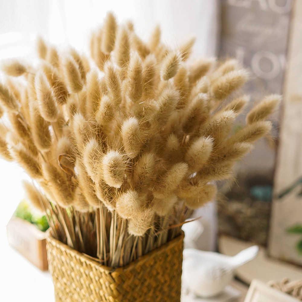 30/adet demet doğal kuru buket çiçekler yapay Lagurus buket ve yapay çiçek DIY el yapımı tavşan buketi el yapımı