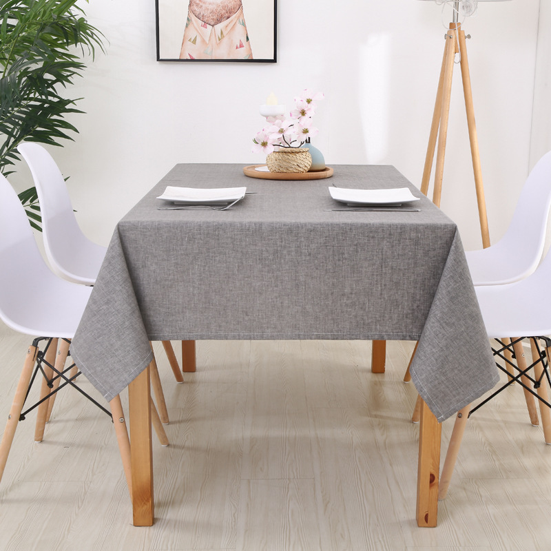 Manteles Para Mesa Rectangulares En Tela Table Cloth Linen Square Table Cover Waterproof Solid Color Dining Tablecloth DW175
