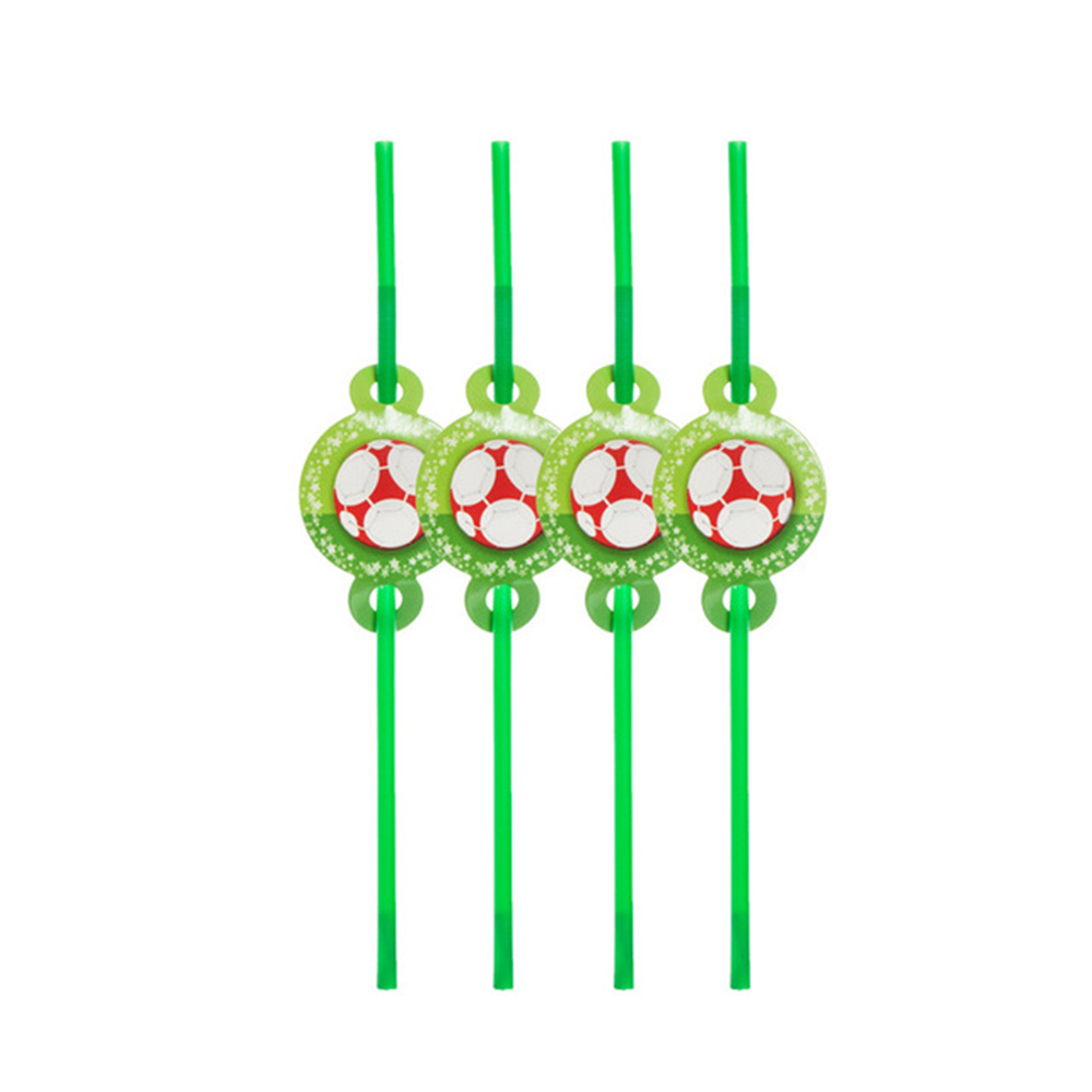 Sports football theme party supplies environmental protection products disposable straws table essentials coffee straws