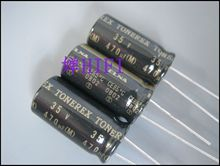 4PCS ELNA TONEREX 35V470UF 12.5X25MM ROB 470UF 35V tuner audio capacitor 470uf/35v Black gold