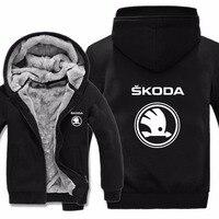 Skoda Hoodies Jacket Winter Mans Unisex Casual Wool Liner Fleece Man Coat Skoda Sweatshirts Pullover