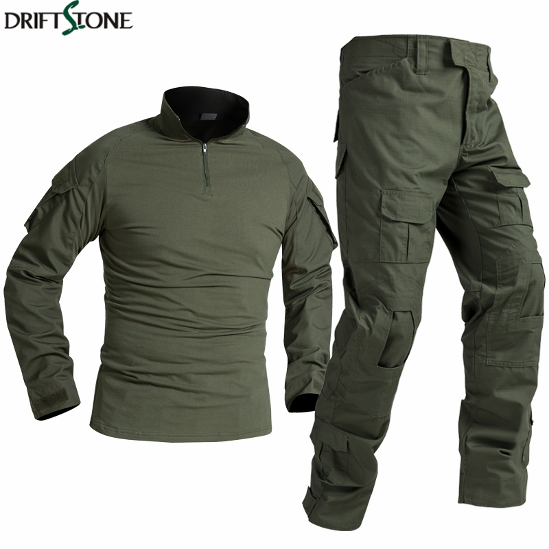 BDU Tactical Military Uniform Special Forces Soldier Suit Militaire Tactics Paintball Clothing Men Combat Shirt Pants No Pads