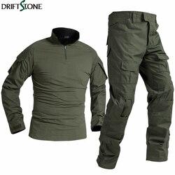 BDU Tactical Military Uniform Special Forces Soldier Suit Militaire Tactics Paintball Clothing Men Combat Shirt Pants No Pads