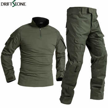 BDU tactique Militaire uniforme Forces spéciales soldat costume Militaire tactique Paintball vêtements hommes Combat chemise pantalon pas de tampons