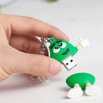Chocolate M&M Pendrive Memory Stick Usb 2.0 Flash Drive 4G 8G 16G Pen 32GB 64G 128G 256G Card Disk On Key
