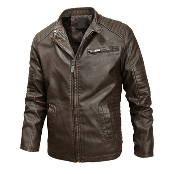 New Men's Leather Jackets Motorcycle PU Jacket Male Casual Leather Coats Slim Fit Mens clothing jaqueta de couro masculina