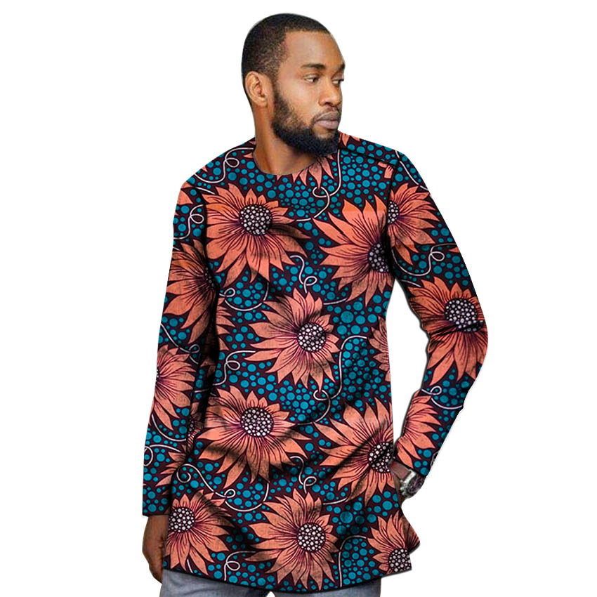 Image 4 - African outfits men's shirt custom made Ankara o neck dashiki print groom tops male formal Africa clothing-in Tuxedo Shirts from Men's Clothing