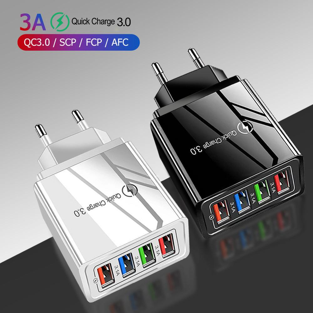 EU/US Plug USB Charger Quick Charge 3.0 4.0 For Phone Adapter For iPhone 11 7 X Tablet Portable Wall Mobile Charger Fast Charger