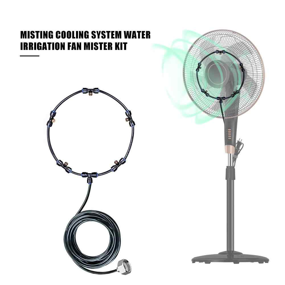 Fan Misting Kit For Cooling Outdoor Misting Cooling System Water Irrigation Fan Mister Kit With 5 Removable Brass Nozzle /& Galvanized Solid Brass Adapter