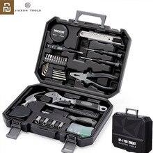 Youpin JIUXUN 12/60 قطعة لتقوم بها بنفسك مجموعة أدوات الأدوات العامة أداة يدوية منزلية مع مفك براغي مطرقة الشريط ذو طيات سكين الأدوات
