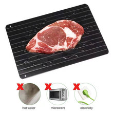 Defrost tray quick defrost frozen meat fish seafood steak fast defrost plate tray kitchen gadget kitchen thaw chicken breast hawksmoor at home meat seafood sides breakfasts puddings cocktails