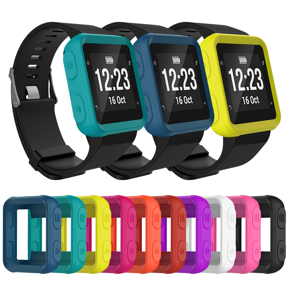 For Garmin Forerunner 35/30/S20 Silicone Case Smart Watch Protector Skin Cover For Sport Watch Protection Cover