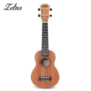 Image 5 - Zebra Spring 21 inch 15 Frets Mahogany Soprano Ukulele Guitar Sapele Rosewood 4 Strings Hawaiian Guitar Musical Instruments
