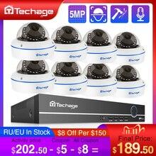 Techage H.265 8CH 5MP POE NVR System CCTV wandaloodporny 5MP kryty Dome Audio kamera IP P2P zdalny zestaw nadzoru bezpieczeństwa wideo