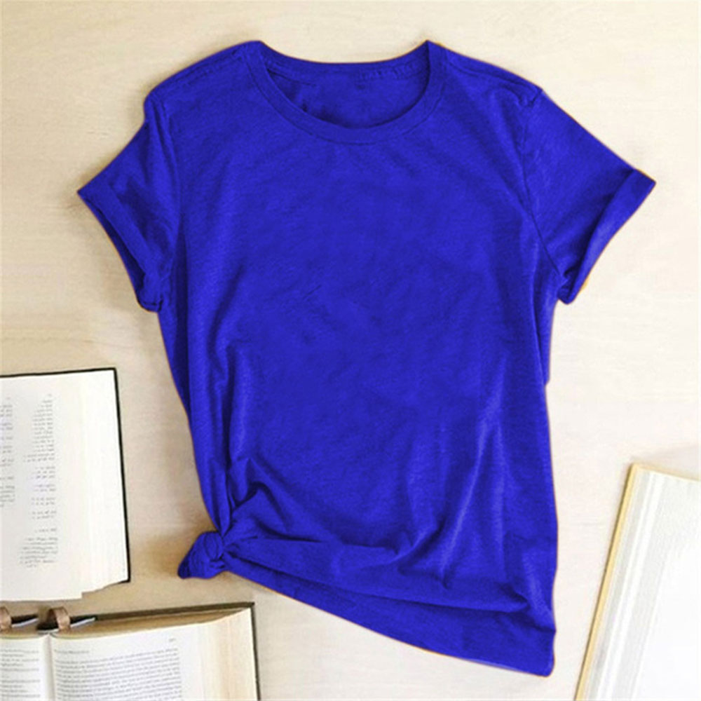 Дышащая футболка в стиле Харадзюку, женская уличная одежда, Стильные качественные рубашки в стиле хип-хоп, простота, минимализм, темно-синяя...