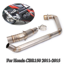 CBR 150 Motorcycle Exhaust Muffler Pipe Header Front Link Pipe Stainless Steel Exhaust Connect Tube For Honda CBR150 2011-2015