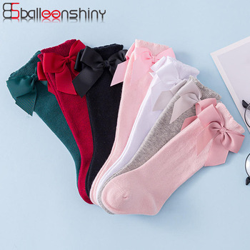 Balleenshiny Autumn And Winter Kids Sock Cotton Spanish Style Big Bow Infant Baby Socks Toddler Newborn Accessories for 0-3year - discount item  30% OFF Children's Clothing