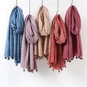 Image 1 - Écharpe hijab surdimensionnée en coton uni