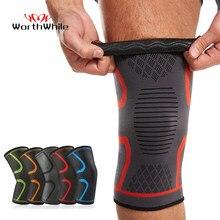Worthwhil 1 pc elásticos joelheiras de fitness esportes náilon joelheira engrenagem patela cinta corrida basquete vôlei apoio