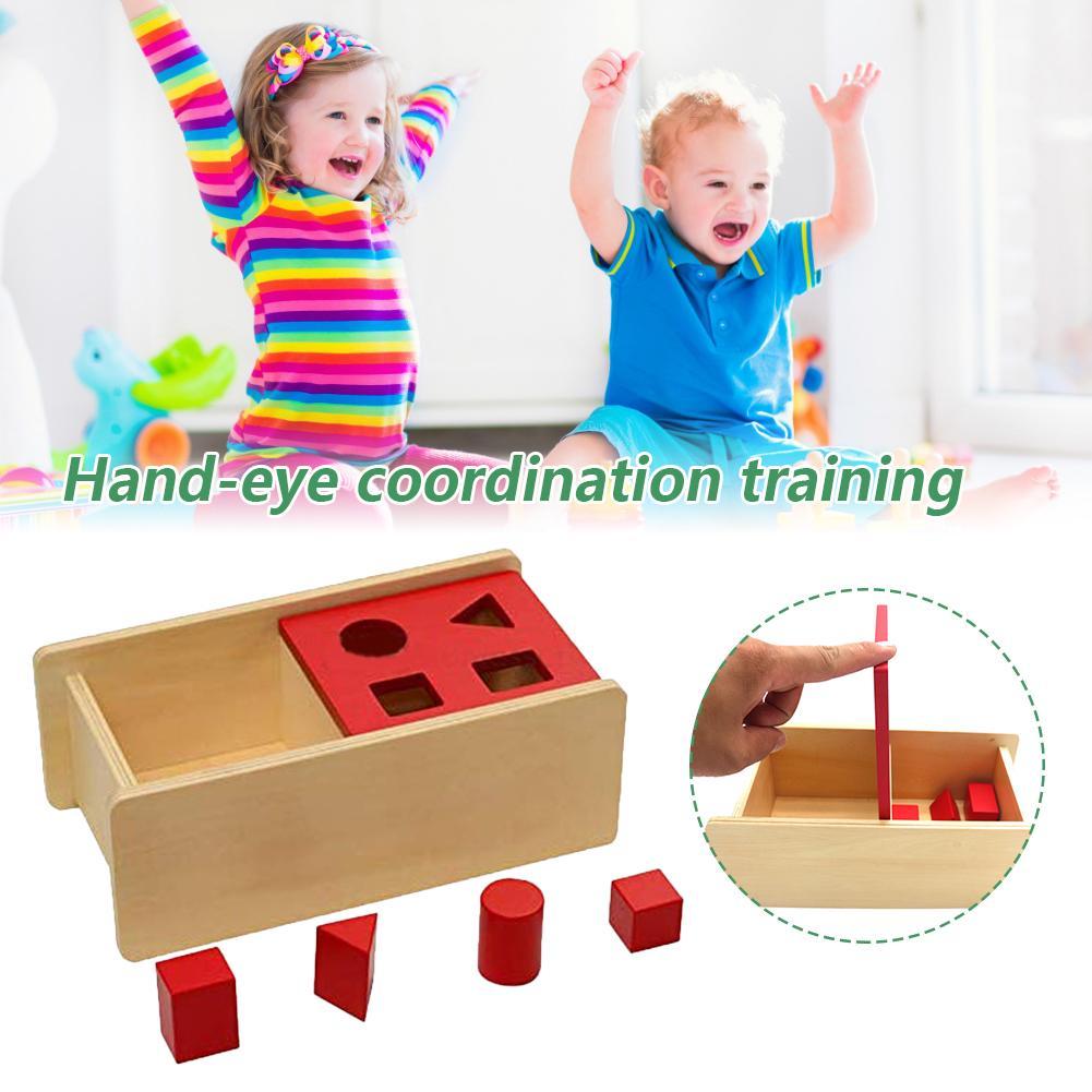 Caixas de armazenamento permanentes empilhadas de madeira dos brinquedos com bandejas de brinquedos do bebê que classificam e empilharam brinquedos educativos