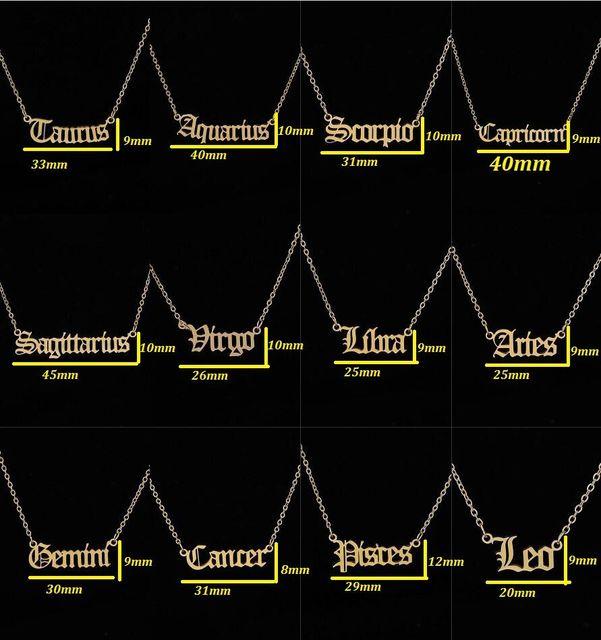 Constellation Necklace Scorpio Leo Capricorn Aquarius Necklace Zodiac Libra Taurus Virgo Gemini Sagittarius Pisces Aries Cancer 4