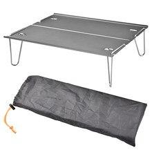 Tavolo pieghevole portatile da campeggio tavoli da Picnic da viaggio all'aperto Mini mobili da scrivania in lega di alluminio ultraleggero con custodia