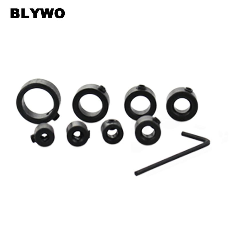 8Pcs 3-16mm Woodworking Drill Bit Depth Stop Collars Ring Positioner、2018