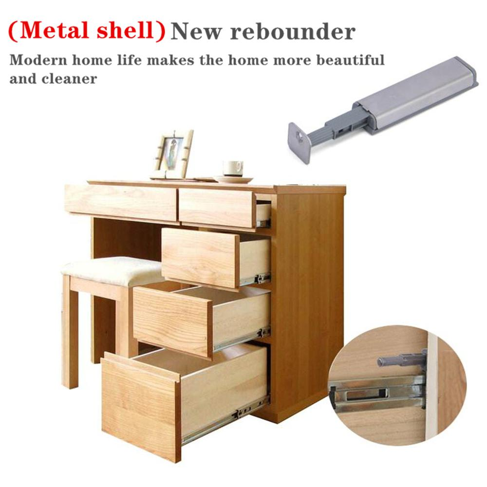 Image 4 - Door Stopper Cabinet Catches Stainless Steel Push to Open Touch Damper Buffer Soft Quiet Closer Furniture HardwareHasps   -