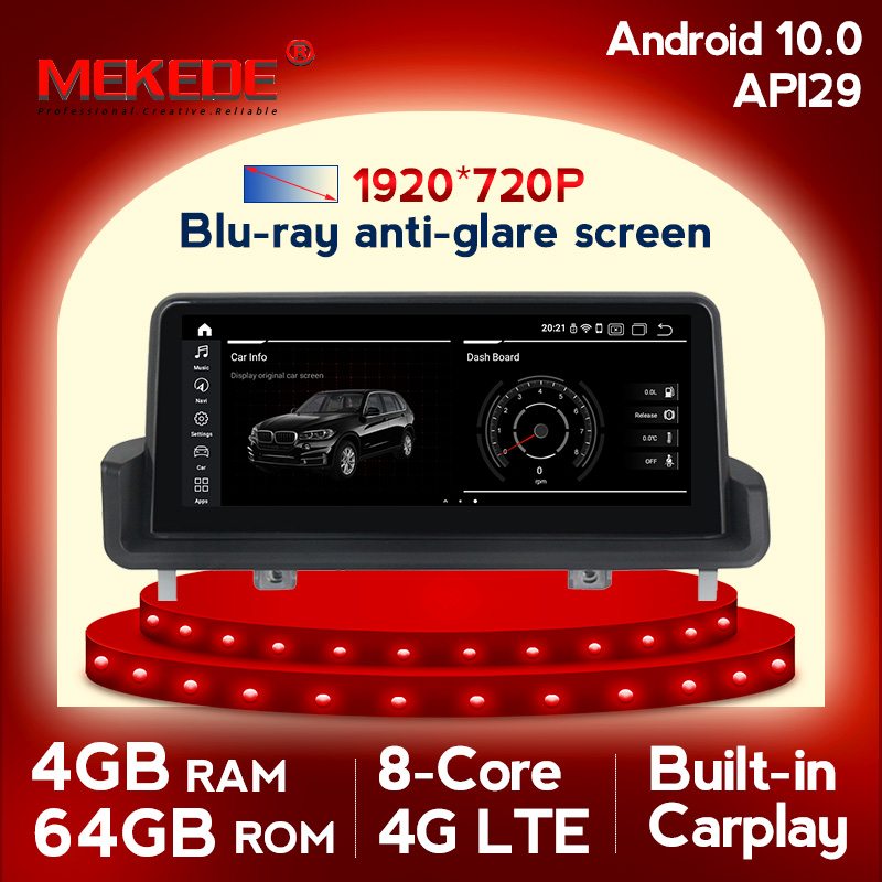 MEKEDE Android 10 Car Multimedia <font><b>GPS</b></font> Navigation For BMW 3 Series <font><b>E90</b></font> E91 E92 E93 2005-2012 With BT WiFi Radio 2G RAM 32G ROM image