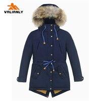 2020 New Kids Winter Coat Parka Cotton Padded Coat Jacket Winter Coat For Kids Girls Boys Children Winter Parka Real Raccoon Fur