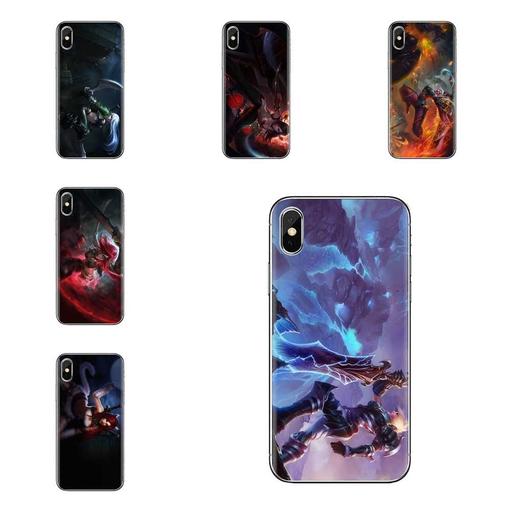 Katarina Riven LOL Fan Transparante Zachte TPU Case Voor Huawei G7 G8 P7 P8 P9 P10 P20 P30 Lite Mini pro P Smart Plus 2017 2018 2019