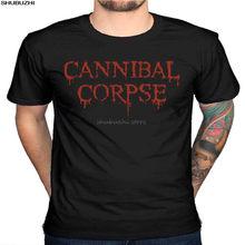 Oficial canibal cadáver 25 anos camiseta morte banda de metal massacrado crânio túmulo impressão dos homens t camisa verão sbz4495